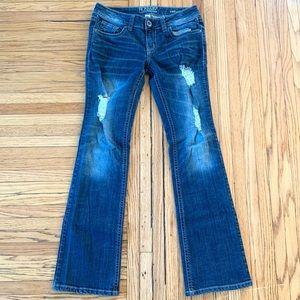 Refuge Runway Everyday Bootcut Distressed Jeans, 4